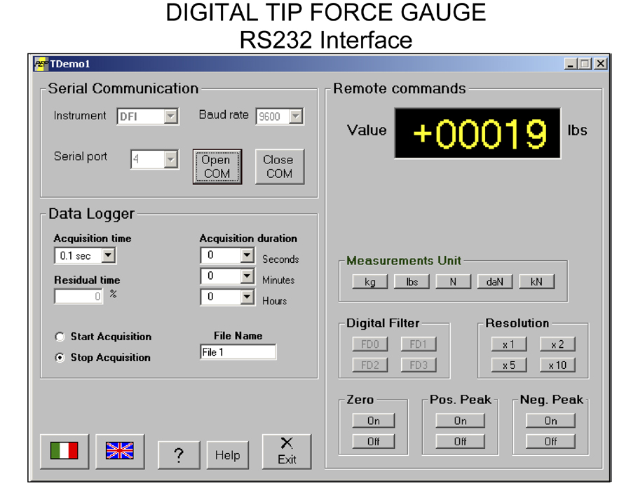 Weld Force Gauge with RS232 Communication Option